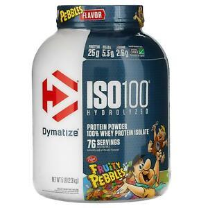Dymatize Nutrition, ISO100 Hydrolyzed, 100% Whey Protein Isolate, Fruity 5 lb