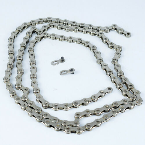 VG Sports 10 Speed MTB Bike Chains 116 Link Silver Chain Bicycle Parts Premium