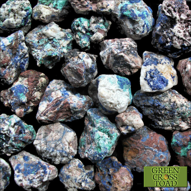 Azurite Malachite in Matrix Crystal Raw Mineral Specimen Expands Understanding
