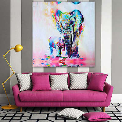 Unframed Watercolor Elephant Canvas Print Wall Art Picture Modern Home Decor