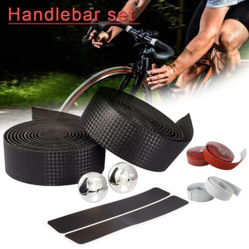 Cycling Road Bike Bicycle Handlebar PU+EVA Sports Handle Bar Grip Wrap Plug Tape