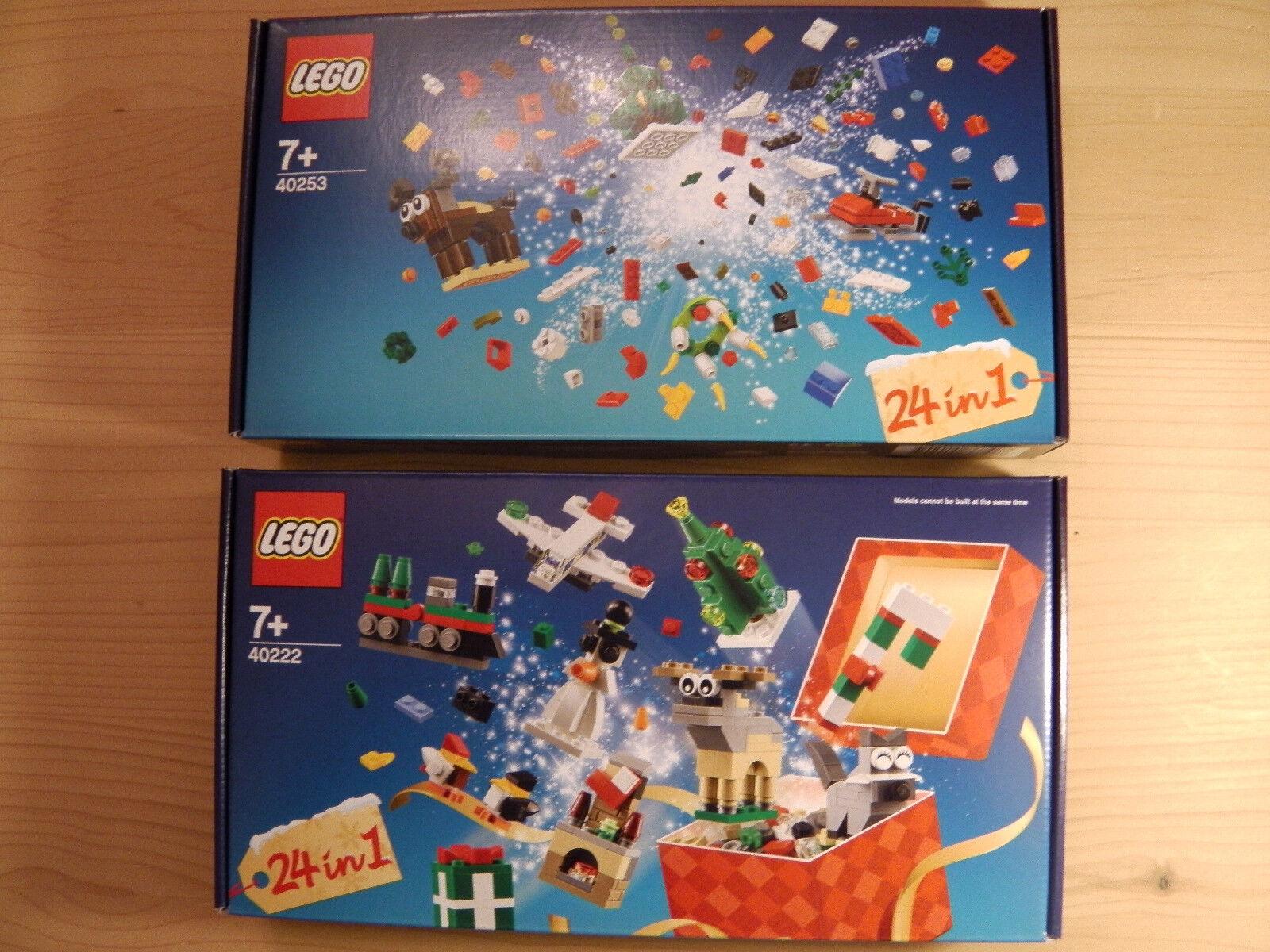 LEGO® (40222) + (40253) 24 IN 1 Weihnachtlicher Bauspaß inkl Versand Neu