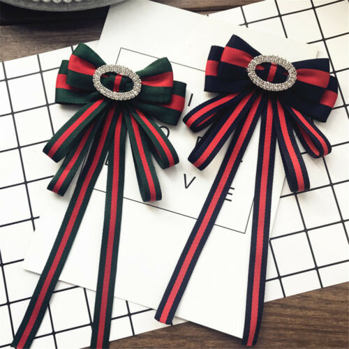 Retro college Temperament Bow Tie Clothing Accessories Striped Bow Tie Flower
