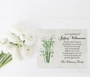 Image Is Loading Sympathy Acknowledgement Cards Funeral Thank You Notes Personalized