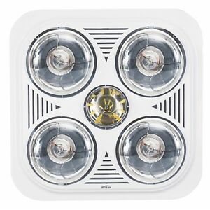 Mistral 4 X 275w 3 In 1 Bathroom Heater Lights Instant