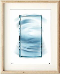 modern abstract water blue grey le epson print in ikea, a3 clipframe