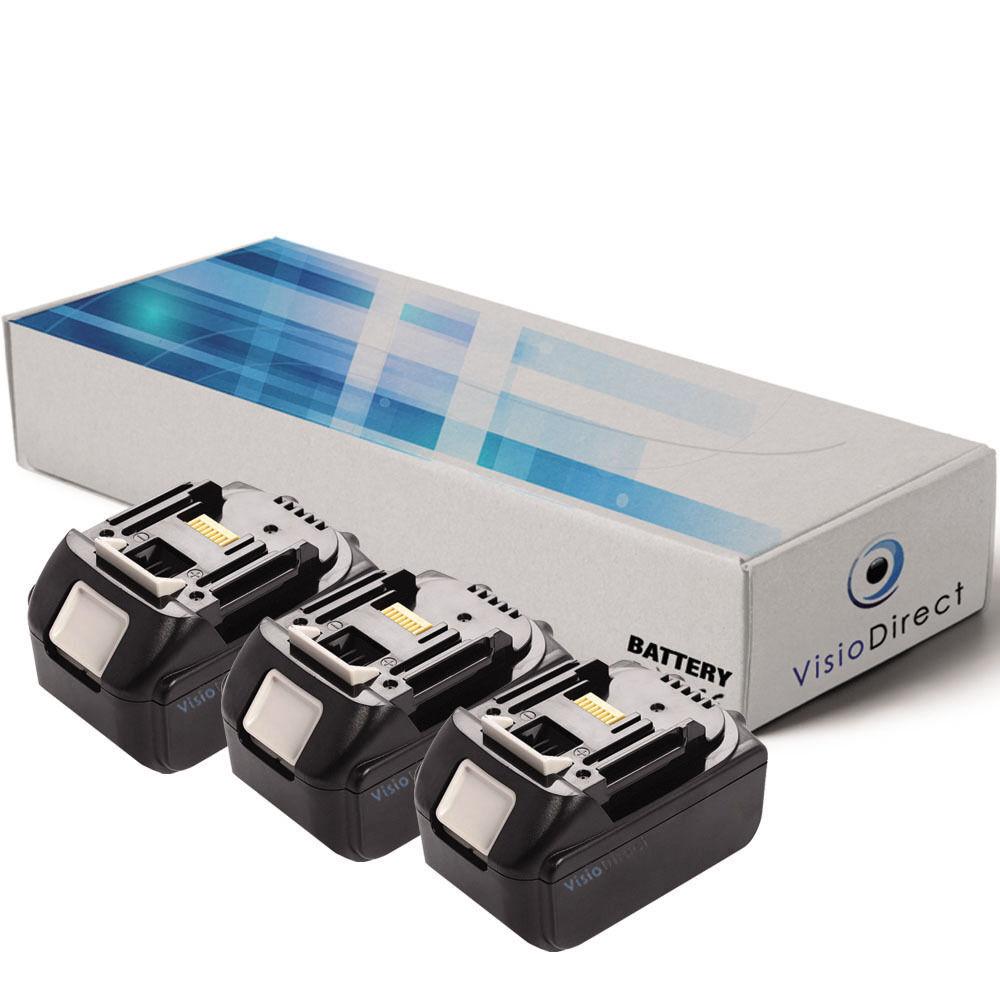Lot de 3 batteries 18V 3000mAh pour MAKITA BTW251W - Société Française -