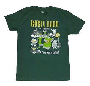Disney-Robin-Hood-Group-Shot-Retro-Disneyland-Disneyworld-Mens-T-Shirt