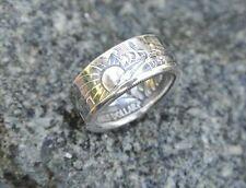 Handmade .900 Silver coin ring 1940-47 Walking Liberty half dollar sizes 7 to 14