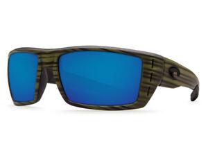 3158f8f18e NEW Costa Del Mar RAFAEL Matte Olive Teak   580 Blue Mirror Plastic ...