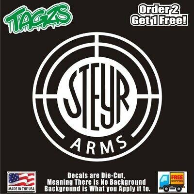 Steyr Arms Pistol Guns Rifal Vinyl Sticker Decal Wall Bumper Car Truck