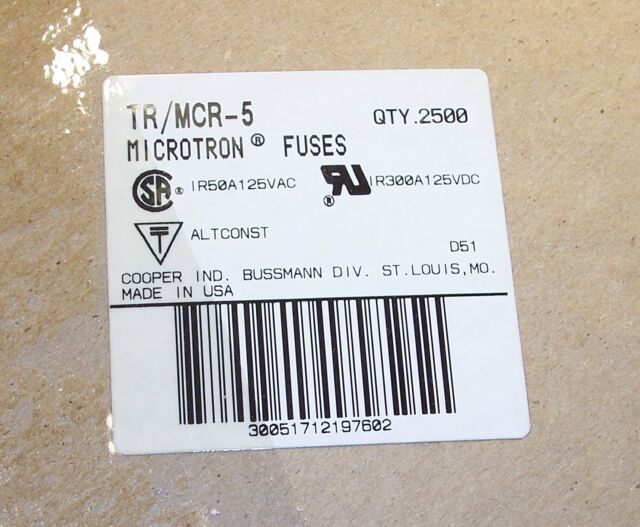 Cooper Bussmann Tr//mcr-5 Fuse for sale online