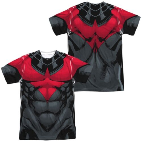 Authentic Batman Nightwing RED Costume Uniform Outfit Allover Front Back T-shirt