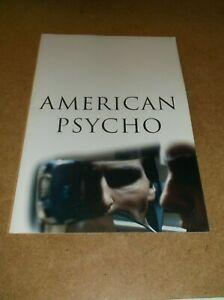 AMERICAN PSYCHO(2000)CHRISTIAN BALE ORIGINAL PROGRAM NEAR MINT!