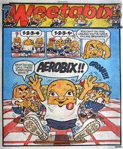 WeetOlympix 1984 /'WEETABIX/' Breakfast Cereal Print Advert Vintage Comic Ad