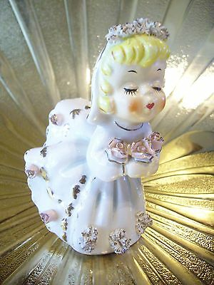 VTG Marilyn Exclusive June Kissing Bride Birthday Bloomer Girl Angel Figurine
