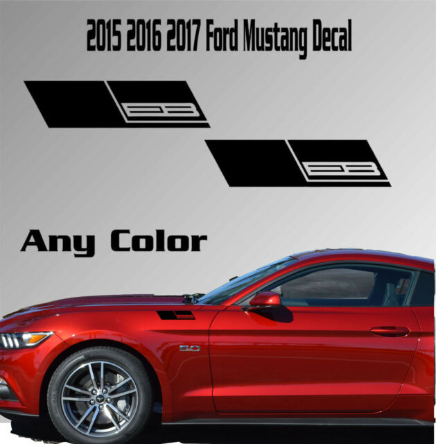 2017 2016 Ford Mustang Fender Vinyl Decal Sticker Ecoboost 2 3 Turbo Car