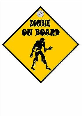 Fun Car Hanger Novelty Car Window Hanger Zombie Sign Fun Baby on Board sign