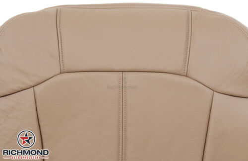 Driver Side Bottom Leather Seat Cover Med Dark Oak Tan 99-00 Chevy Silverado LT