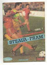 Orig.PRG   Cup der Landesmeister  1989/90   STEAUA BUKAREST - FRAM REYKJAVIK  !!