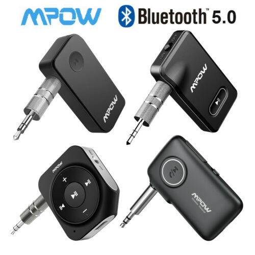 Mpow Wireless Bluetooth 5.0 Receiver Audio Adapter Aux Stereo Music Home Car kit