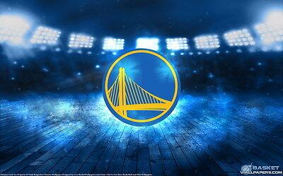 """577 NBA Super Stars - Golden State Warriors Logo Basketball 22""""x14"""" Poster"""