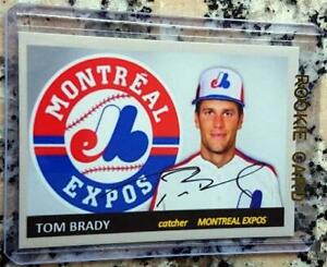 TOM-BRADY-Montreal-Expos-Baseball-Rookie-Card-RC-Aceo-Art-Card