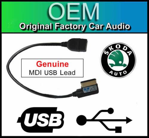 Skoda Superb media in interface cable adapter Skoda MDI USB lead