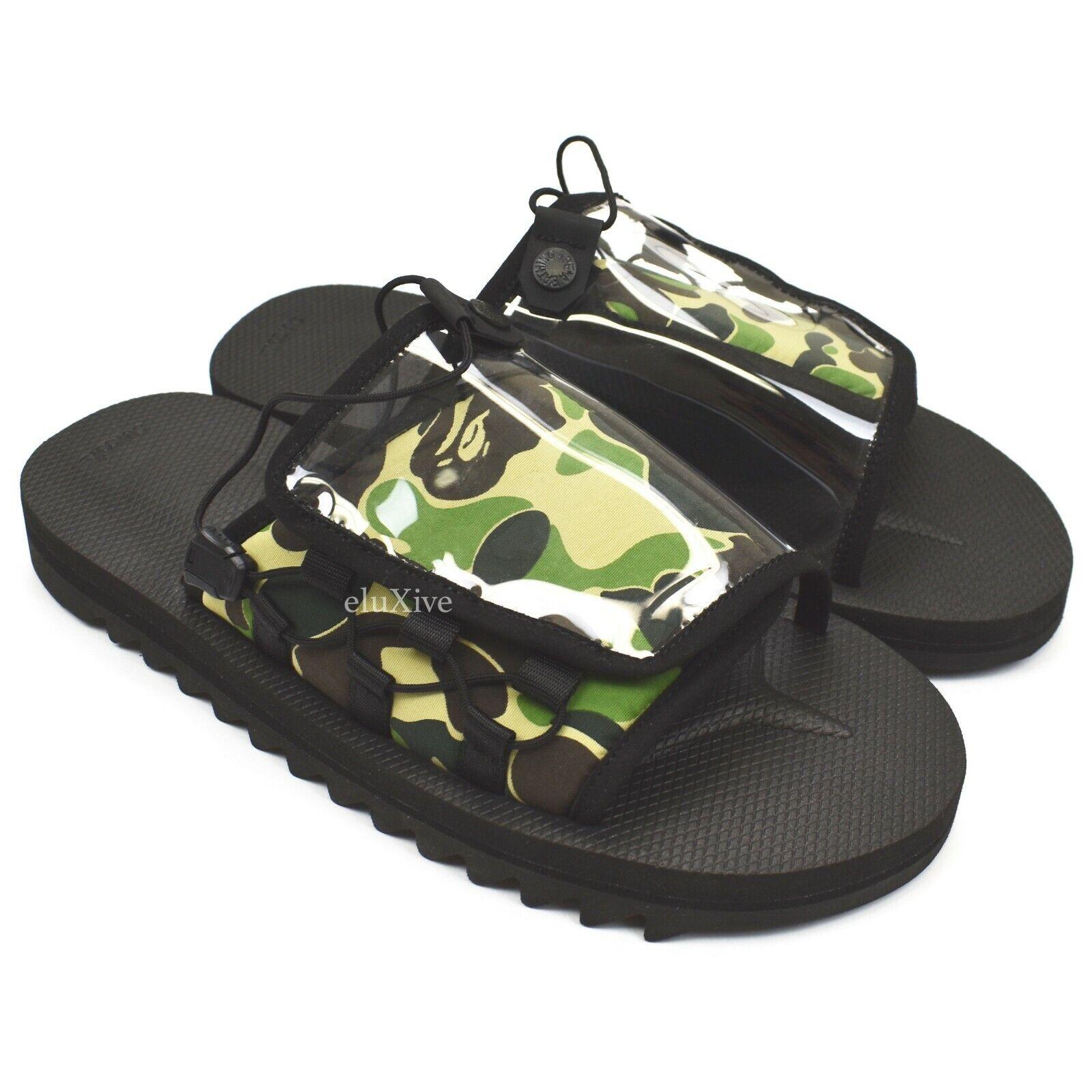 NWT A Bathing Ape Bape Suicoke Camo Logo Print OG-056 Sandals 9 SS19 AUTHENTIC