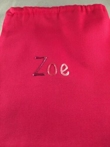 Girl/'s personalised hot pink drawstring mini bag for makeup,collections,toys etc