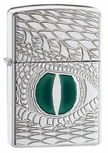 Zippo-Regular-Dragon-Eye-Chrome-Windproof-Refillable-Cigarette-Petrol-Lighter