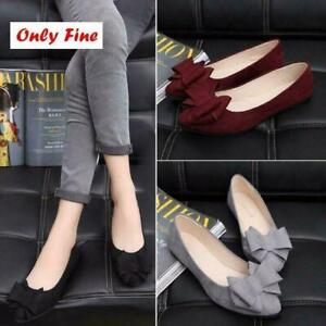 2019-Womens-Pumps-Bow-Boat-Shoes-Slip-on-Flats-Comfort-Fashion-Shoes-Loafers