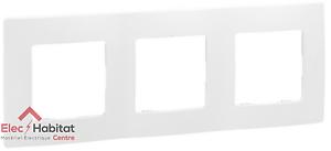 Plaque 3 postes Niloe blanc pur Legrand 665003