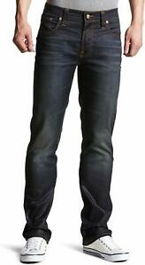 Nudie-Herren-Regular-Slim-Straight-Fit-Stretch-Jeans-Slim-Jim-Glacier-Indigo