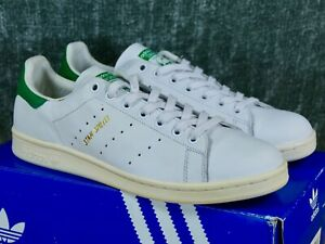 Details about Adidas Stan Smith Mens 12 white/green/gold - originals og  leather S75074 2015