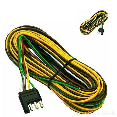 4 way flat trailer end connectors trailer boat wiring wire harness assembly 5 way flat boat trailer wiring harness