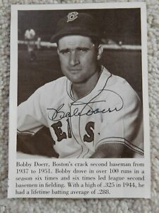 Bobby Doerr HOF Auto Signed Autographed Book Photo Boston Red Sox