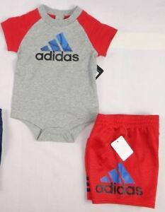 adidas-baby-boys-set-2-Piece-Bodyshirt-and-shorts-set-sizes-12-24-months