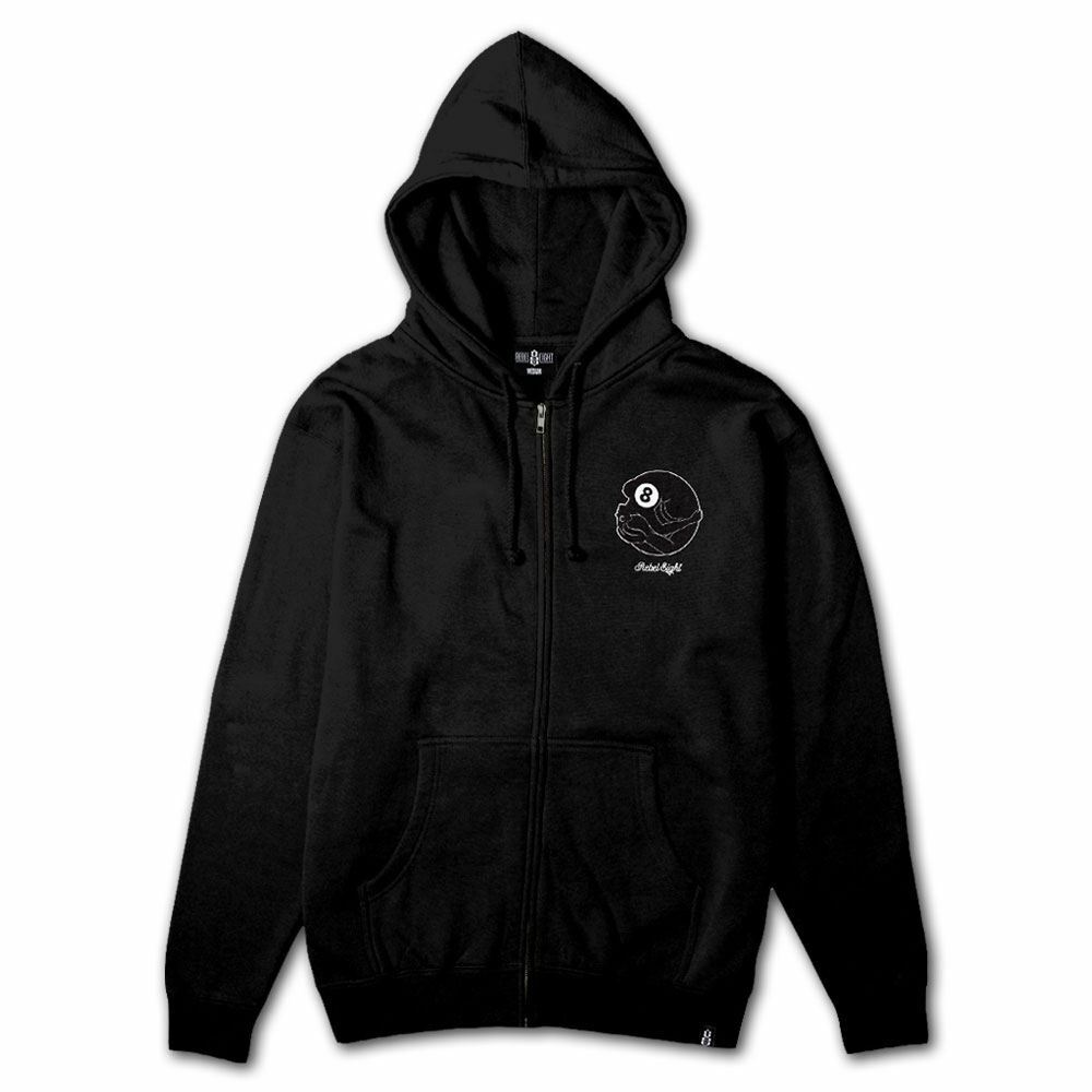 Rebel8 Dama Zip Up Hoodie Schwarz