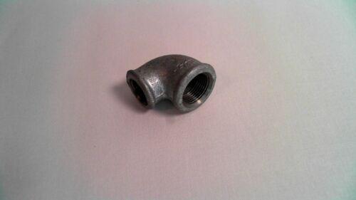"Georg Fischer 1//2/"" Female x 3//4/"" Female Galv Malleable iron BSP 90° Elbow #6L237"