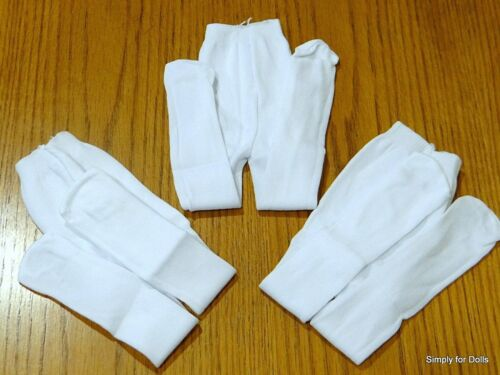 """Set 3 White DOLL TIGHTS STOCKINGS fits 15/"""" /& 18/"""" AMERICAN GIRL Doll Clothes"""