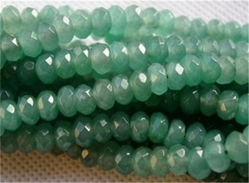 5x8mm Natural Faceted Emerald Abacus Loose Beads Gemstone 15/'/' AAA