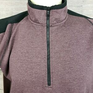 Hawke-amp-Co-Mens-Pro-flex-Size-XL-1-4-Zip-Long-Sleeve-Pull-Over-Sweater-Purple