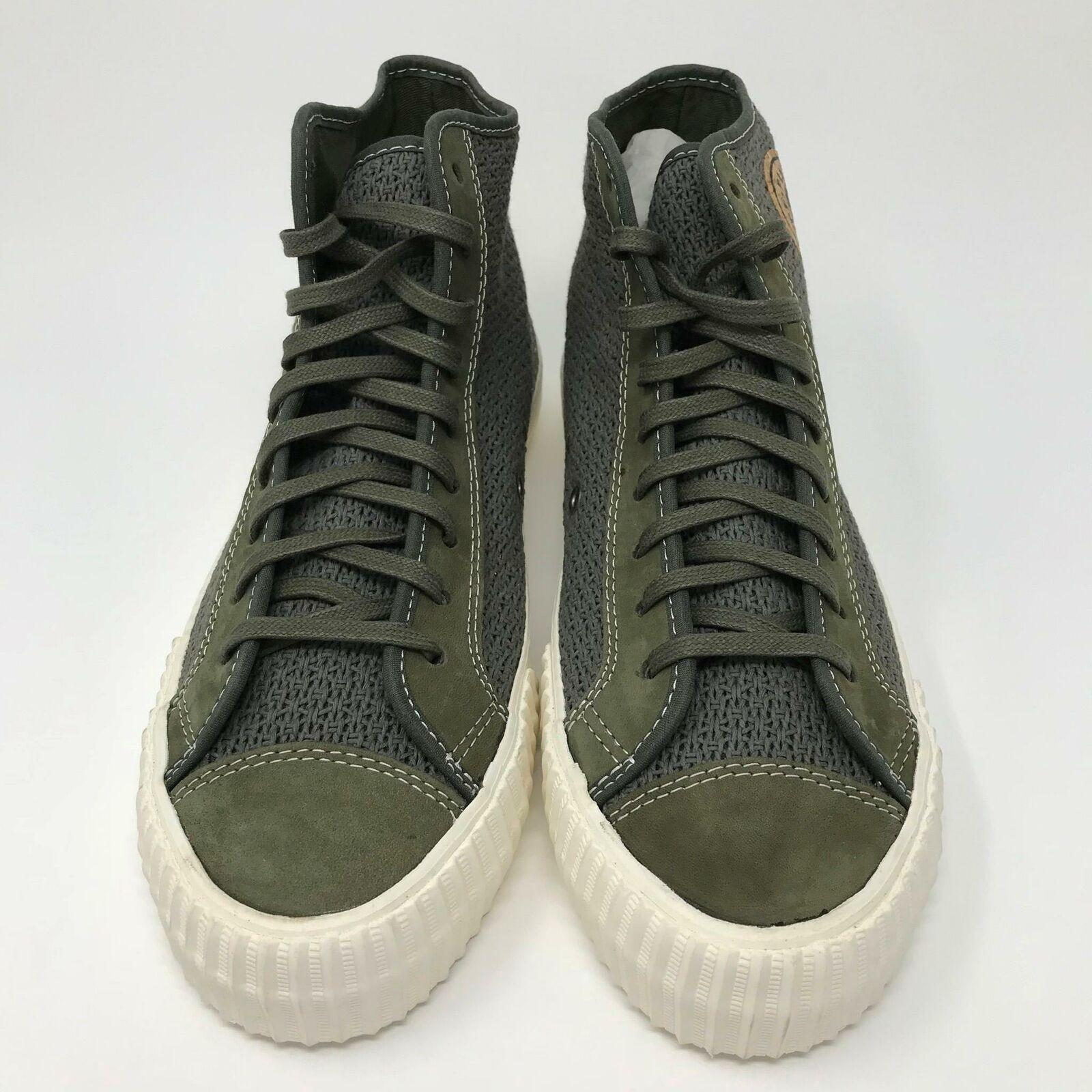 PF Flyers Center Hi Tejido zapatilla de deporte Cable (Oliva) Zapatillas Para Hombres Zapatos Talla  9.5