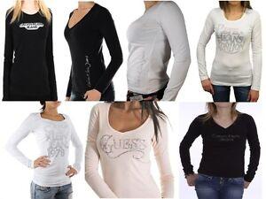T shirt Guess, pepe jeans,CK manche longue femme S M L XL   eBay d48941cad52