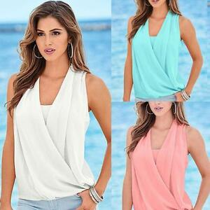 Women-Chiffon-Solid-Loose-Sleeveless-Vest-Top-Blouse-Casual-Tank-Tops-T-Shirt