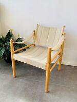 Safaristol, Super fed stol i lakeret bøg og