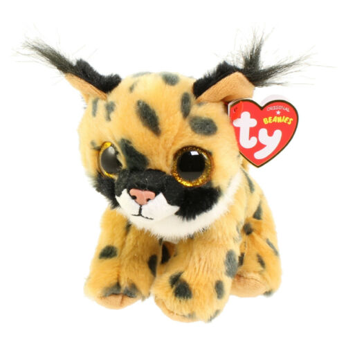 "Ty Beanie Baby Boo/'s 6/"" Larry the Lynx Stuffed Animal Plush MWMT/'s w// Heart Tags"
