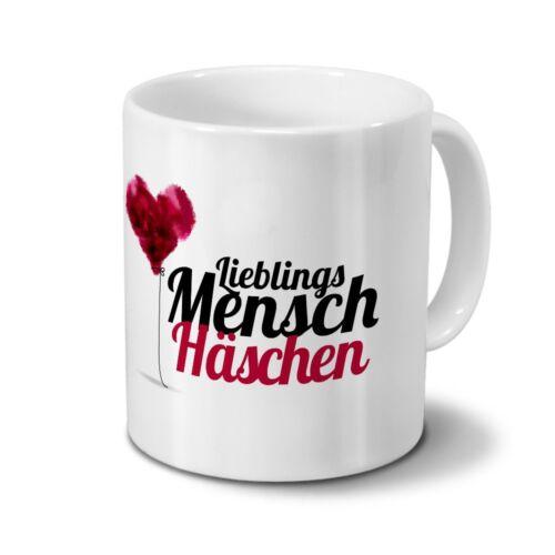 Motiv Lieblingsmensch Tasse mit Namen Häschen