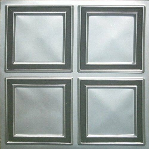LOT OF 140 Faux Tin PVC Ceiling Tiles for Easy DIY Glue Up #145